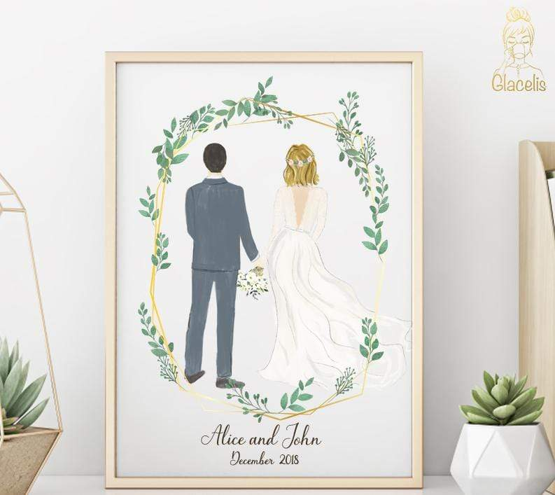 Wedding Art Gifts: Unique & Personalized Wedding Gifts At Glacelis