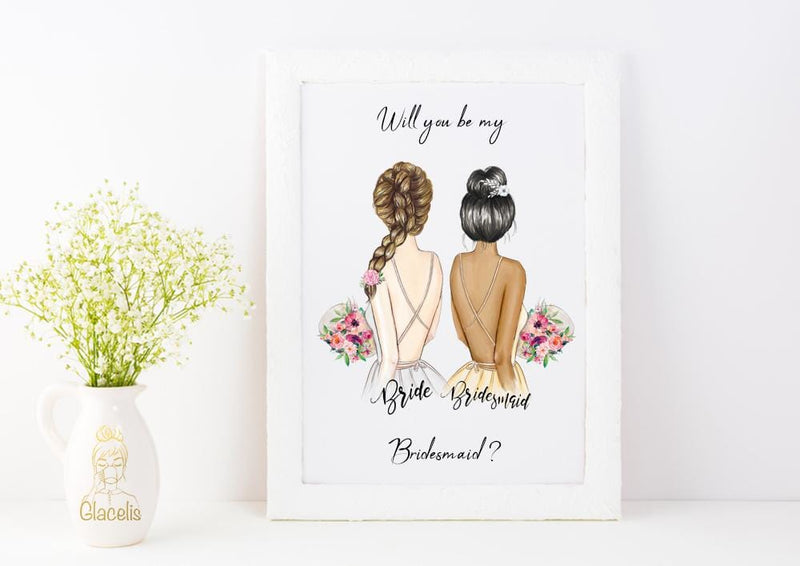 Personalized Wall Art Will you be my Maid of Honor ? - Custom Personalized Gifts for friends, Family & special occasions!