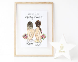 Personalized Wall Art Will you be my bridesmaid ? - Custom Personalized Gifts for friends, Family & special occasions!