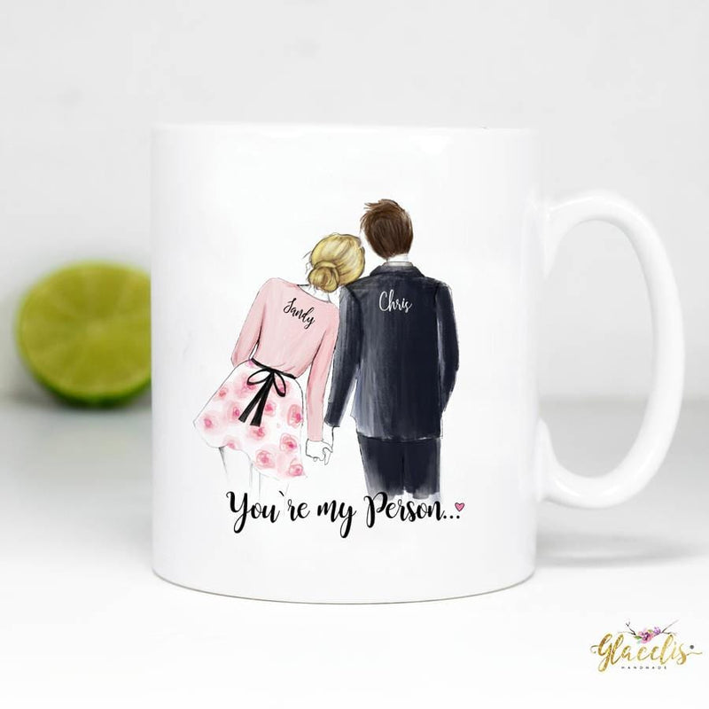 You/'re My Person With Red Heart Romantic Coffee Mug