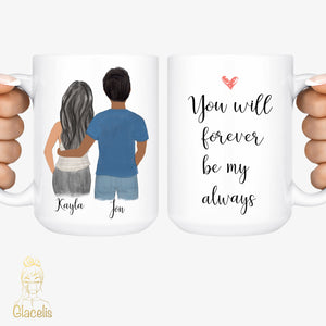 Personalized Couples Fall in Love Mug