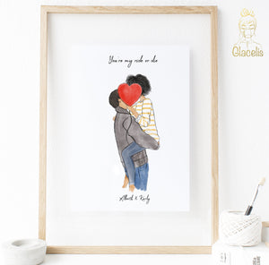 ride or die couples print art at glacelis