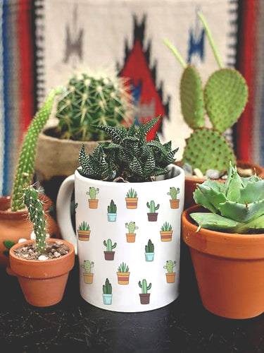 Cactus Mug Plants - By Glacelis® - Custom Personalized Gifts for friends, Family & special occasions!