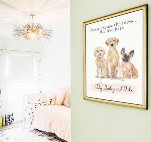 Personalized unique custom dog portrait up to 3 dogos, best friends dogs, custom portrait dog, pet lovers gifts