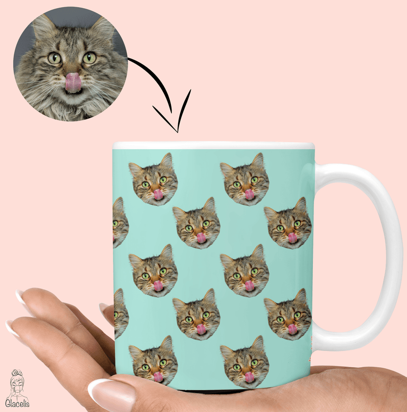 "Personalized a great gift idea for cat lovers, cat owners, and cats themselves with the face of your favorite person ""Your Cat"" glacelis"