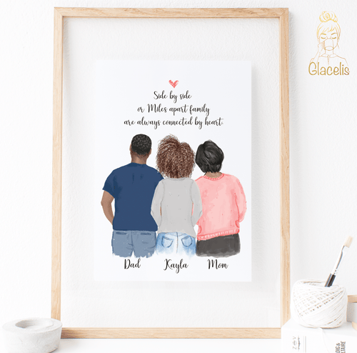 Family of Three - Print Art