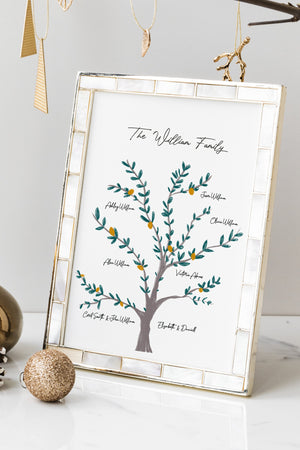 Family Christmas Tree Custom Genealogical Tree