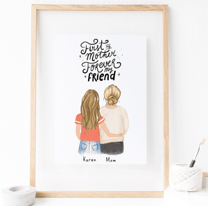 gift for mom, print art for mom, christmas gift for mom, birthday art for mom , glacelis art