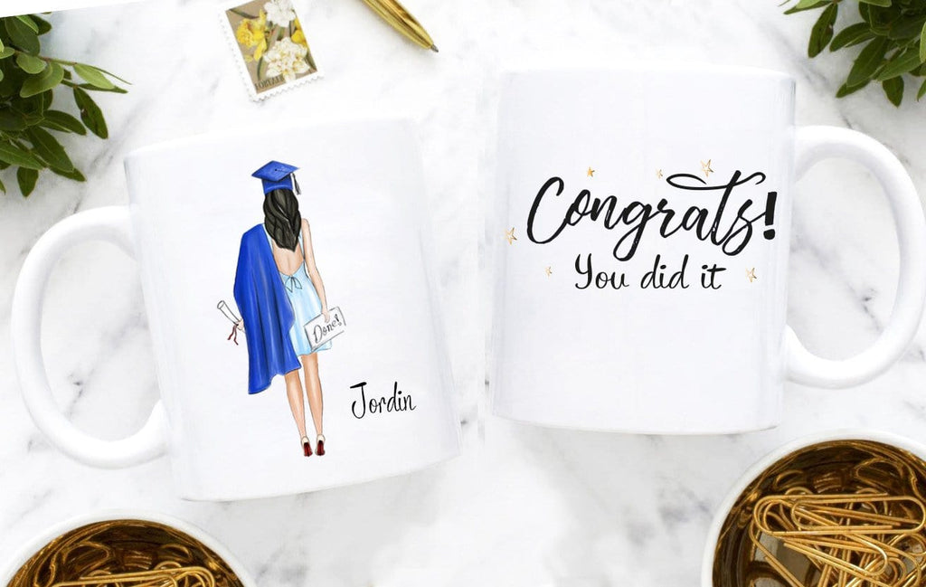 Graduation gifts for her, personalized girl - Coffee Mug By Glacelis