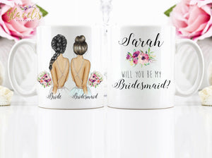 Personalized Maid of Honor Mug / Wedding party gifts - Custom Personalized Gifts for friends, Family & special occasions!