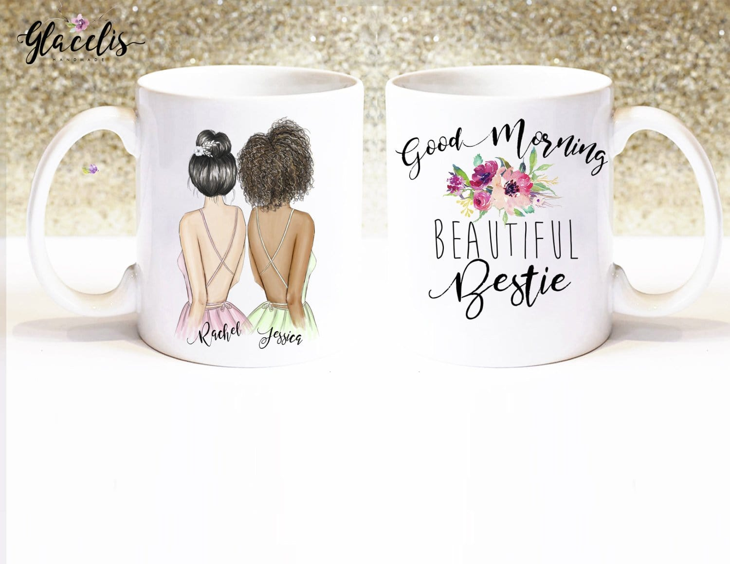 Personalized Best Friend Travel Mug For Women With Handle /& Lid Stainless Steel Soul Sisters