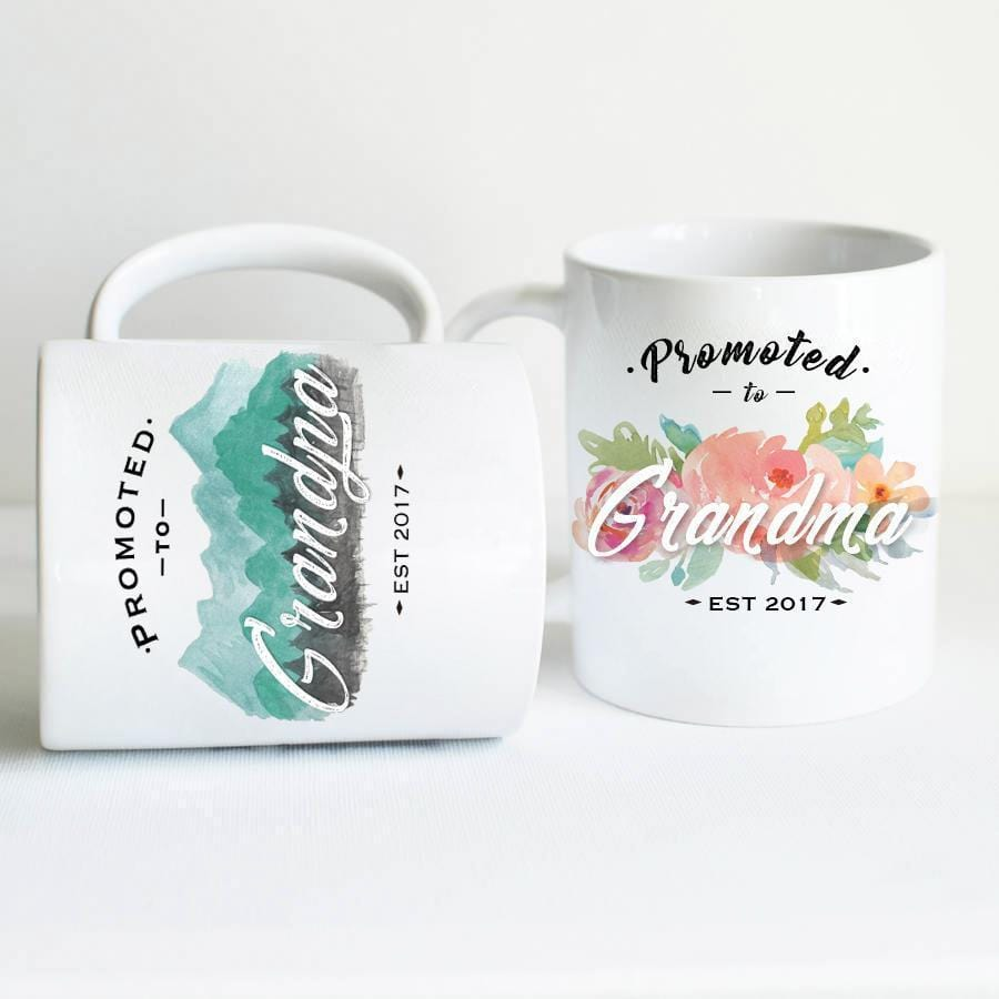 Grandparents to be, Grandpa and Grandma Mug Set- Gifts for Grandma Coffee Mug - By Glacelis® - Custom Personalized Gifts for friends, Family & special occasions!
