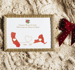 Create a unique, personalized gift for the special person on the other end of any long-distance relationship.