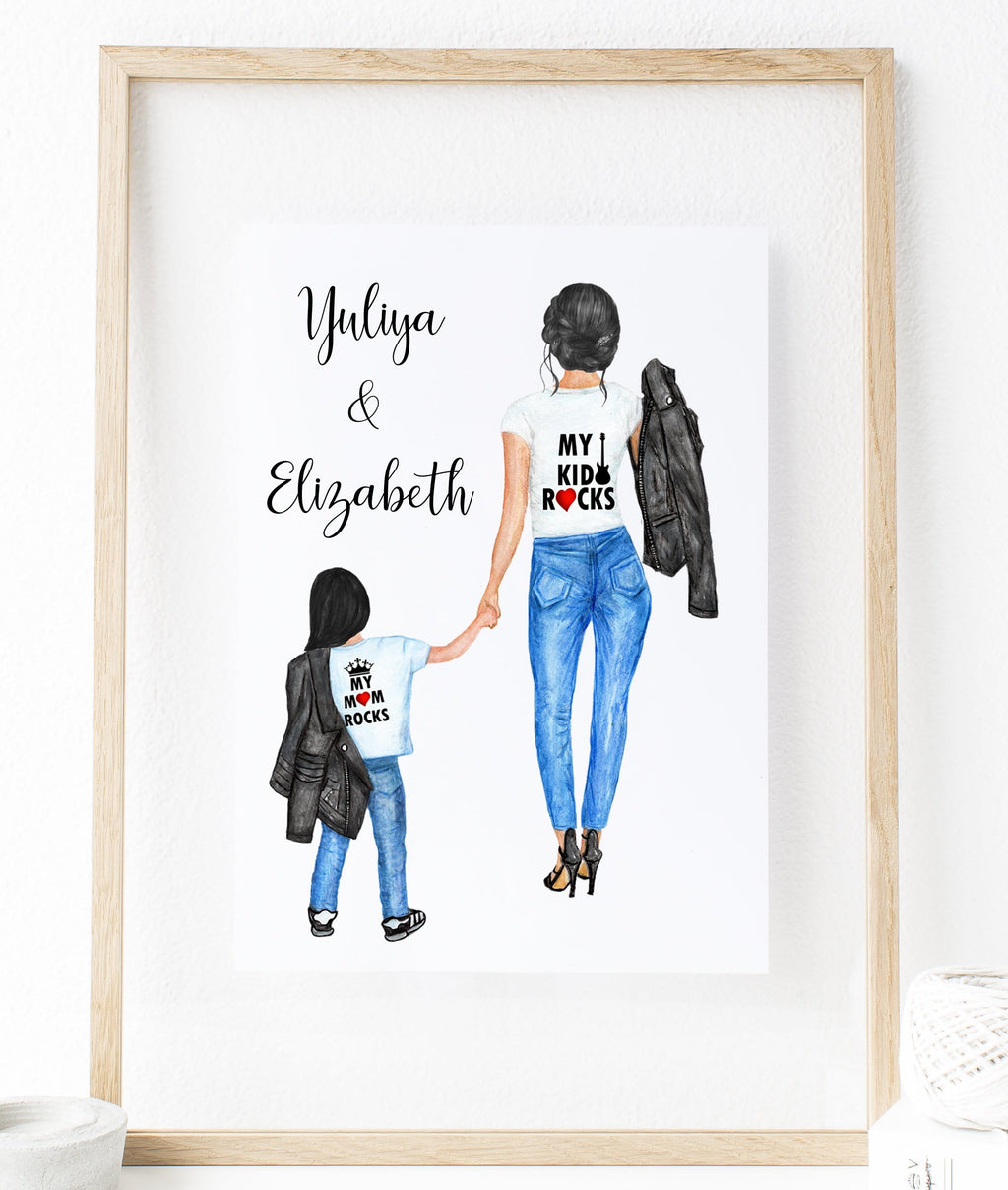 Personalized Daughter and Mom or Soon and Mom Wall Art