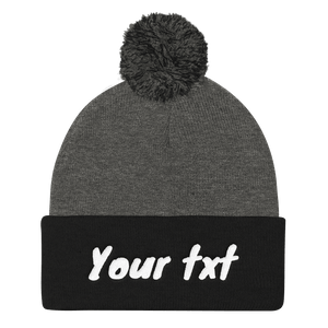 Personalized your Pom Pom Beanie - Custom Personalized Gifts for friends, Family & special occasions!