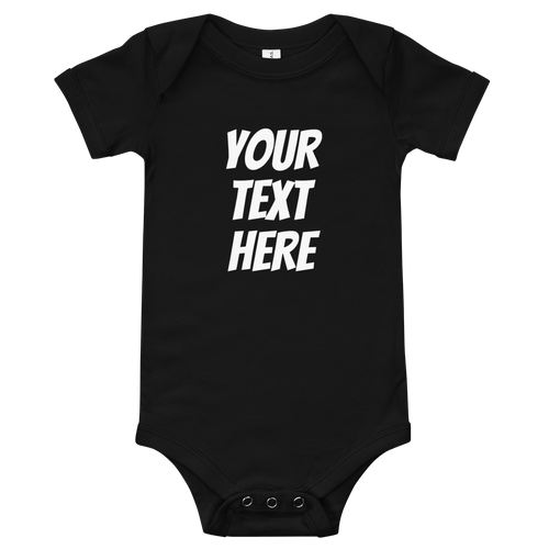 Personalized this cute Baby Short Sleeve One Piece - Custom Personalized Gifts for friends, Family & special occasions!