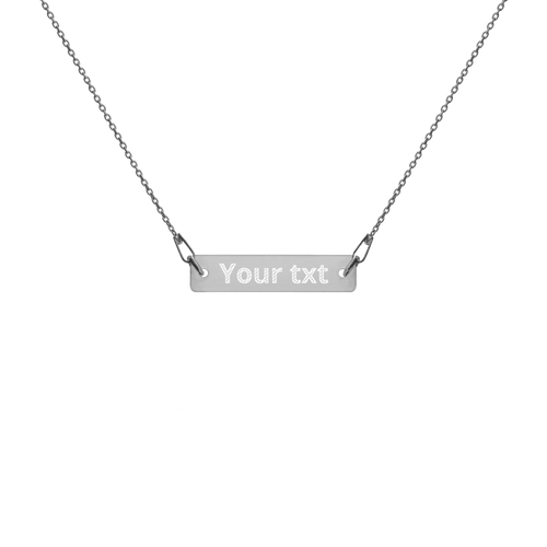 Personalized Engraved gold Bar Chain Necklace - Custom Personalized Gifts for friends, Family & special occasions!