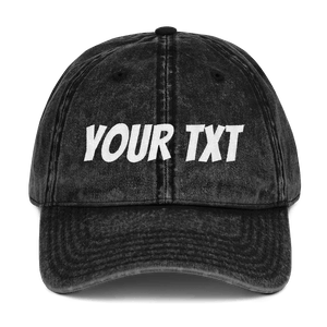Design Your Own Vintage Cap - Custom Personalized Gifts for friends, Family & special occasions!