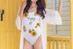 Sunflower One-Piece Swimsuit - Custom Personalized Gifts for friends, Family & special occasions!