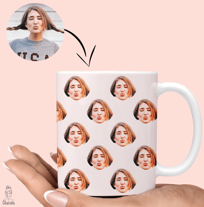 custom photo face mug for best friends