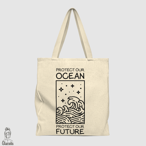 Protect our ocean protect our future  Tote Bag
