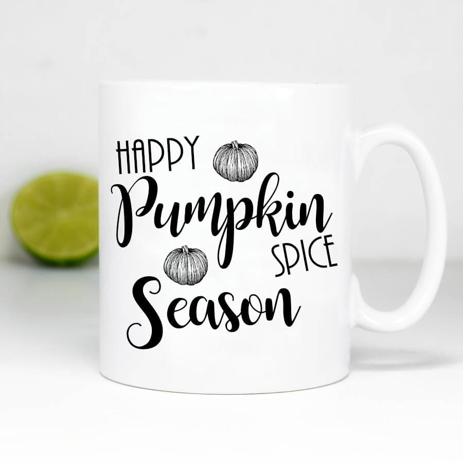 Happy Pumpkin Spice Season Coffee Mug By  Glacelis® - Custom Personalized Gifts for friends, Family & special occasions!