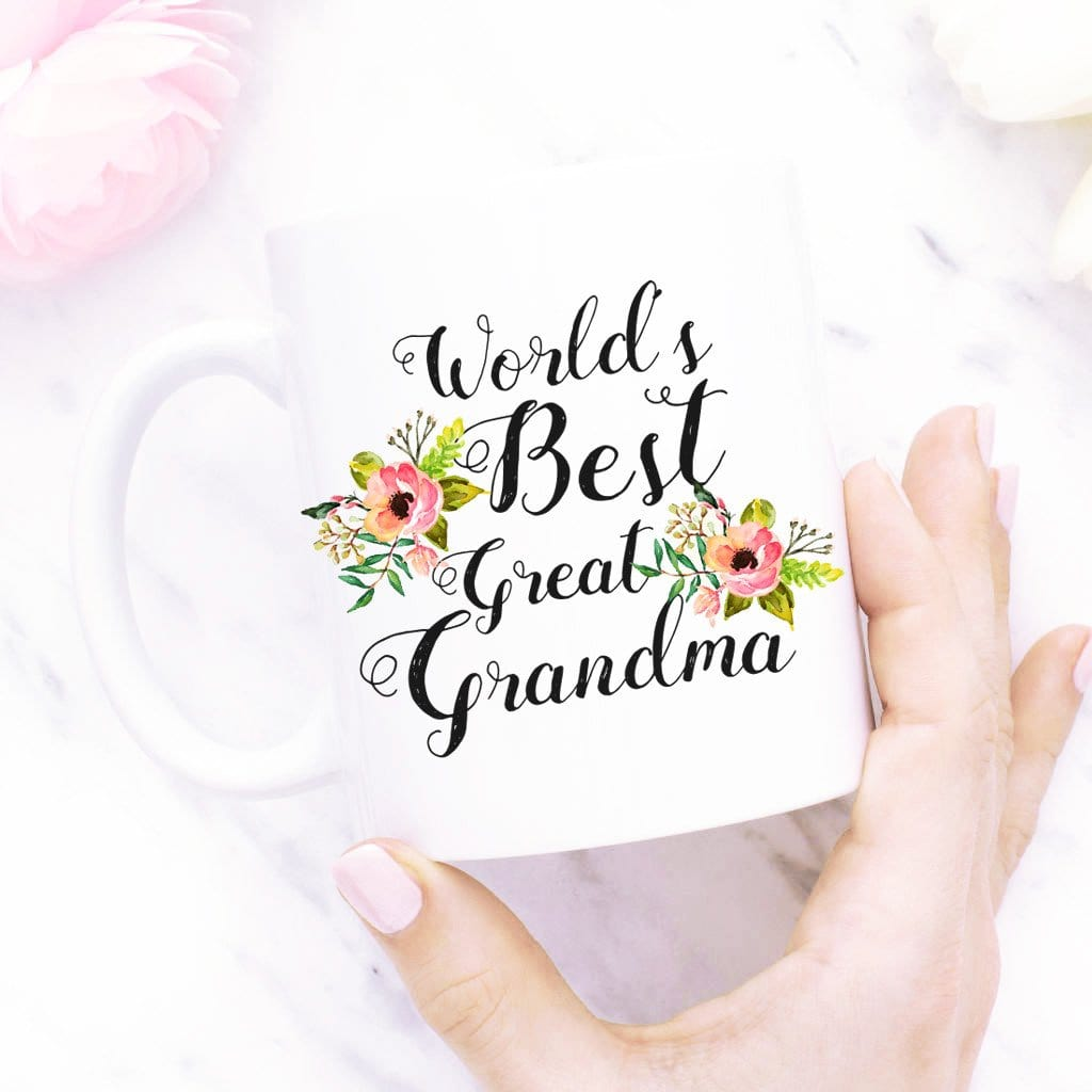 World´s Best Great Grandma - unique  Coffee Mug By  Glacelis® - Custom Personalized Gifts for friends, Family & special occasions!