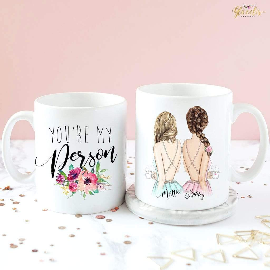 Gift  for girlfriend - Soul Sisters - Unique Friendship Gift,  on Coffee Mug - By Glacelis®