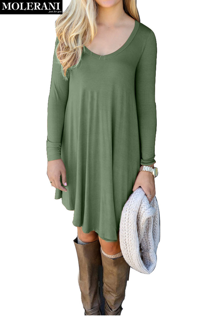 96224fd1775f MOLERANI Women s Long Sleeve T-Shirt Dresses