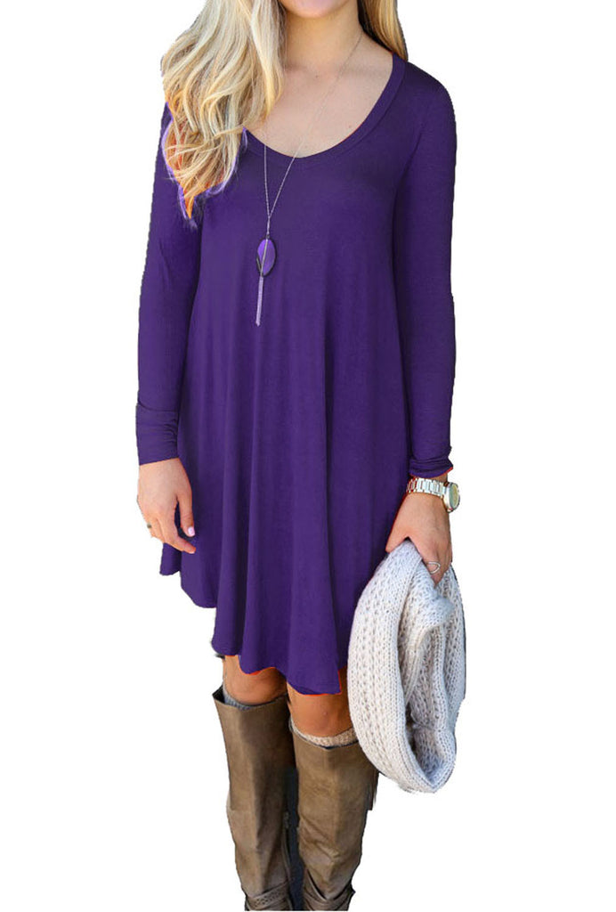 purple t shirt dress