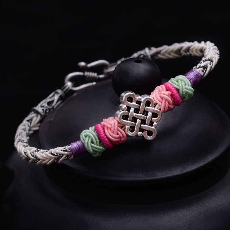 Tibetan Silver Chinese Lucky Knot
