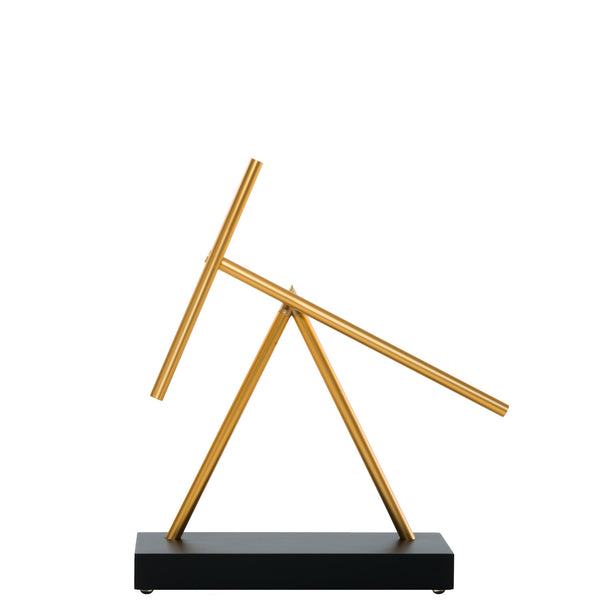 The Swinging Sticks Original Golden Black Kinetic Energy Sculpture Perpetual Motion Double Pendulum
