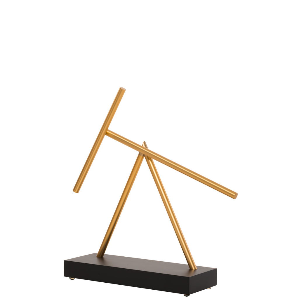 The Swinging Sticks Original Black Gold Golden Sculpture Buy Now For Sale