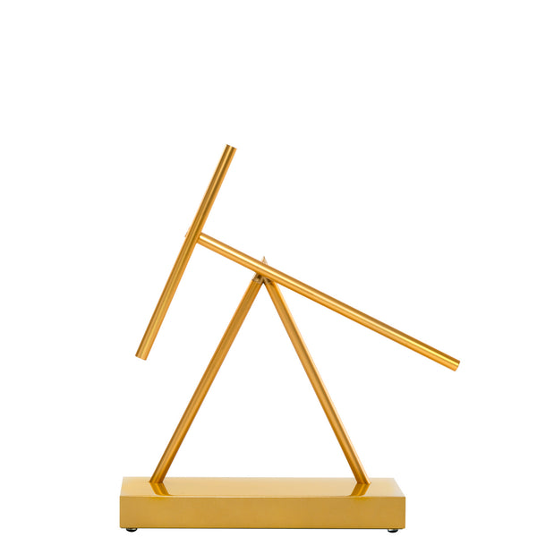 The Swinging Sticks Original Gold Golden Yellow Sculpture