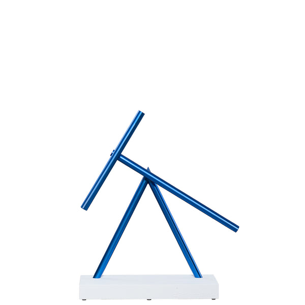 The Swinging Sticks Desktop Toy Blue White Continue to swing for many years