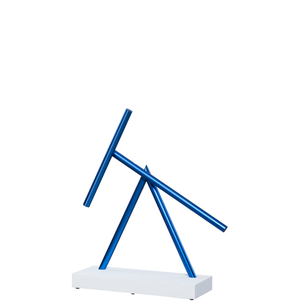 The Swinging Sticks Desktop Toy White Blue new Perpetual Motion Desktop Sculpture