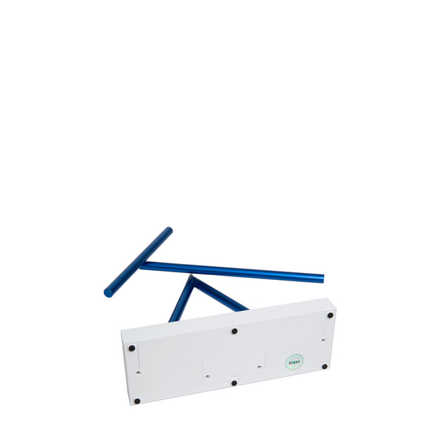 The Swinging Sticks Desktop Toy White Blue Base Perpetual Motion