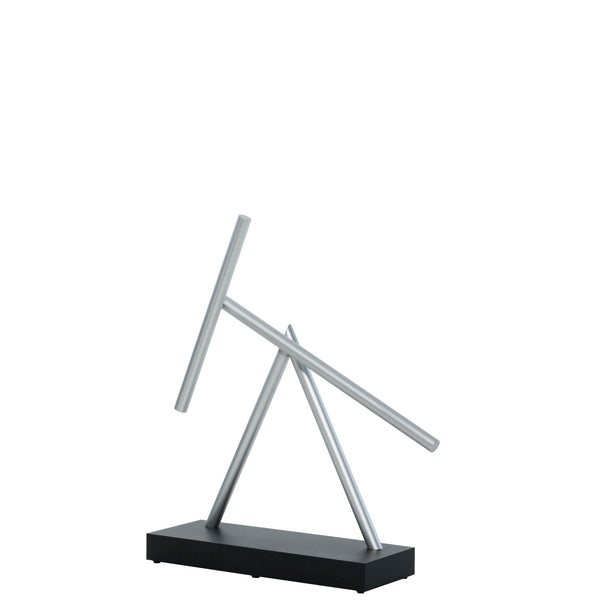 The Swinging Sticks Desktop Toy Black Perpetual Motion Sculpture Double Pendulum Kinetic Energy Desk