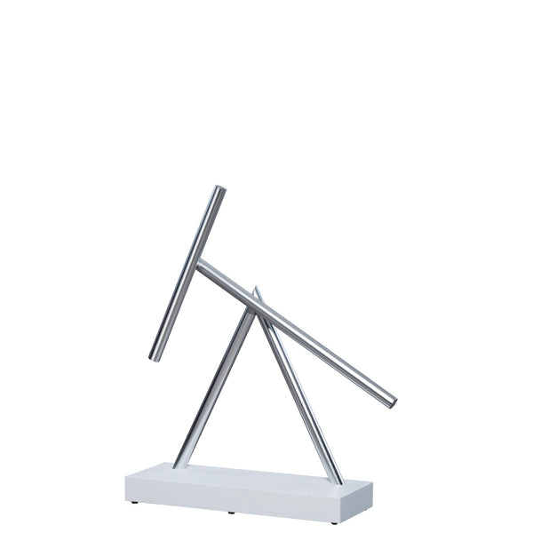 The Swinging Sticks Desktop Toy White New Perpetual Motion Kinetic Energy Sculpture