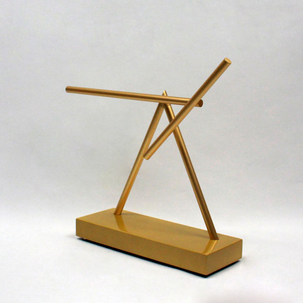 The Swinging Sticks<sup>®</sup> - Original Golden - GeelongShop Perpetual Motion Kinetic Energy Double Pendulum Sculpture