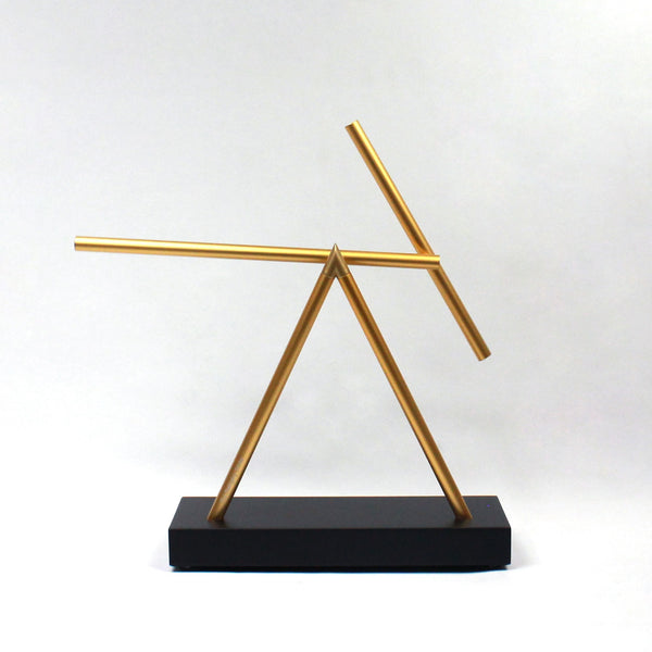The Swinging Sticks<sup>®</sup> - Original Golden Black - GeelongShop Perpetual Motion Kinetic Energy Double Pendulum Sculpture