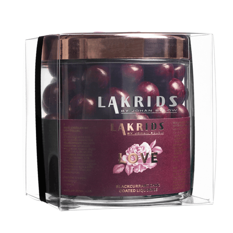 VERY BIG LOVE – Blackcurrant Choc Coated Liquorice sis. lahjakääreen
