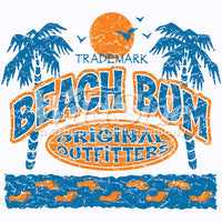 Beach Bum - Palm Trees & Sun  T Shirt