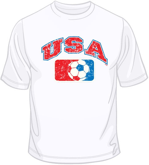 USA Distressed Soccer T Shirt