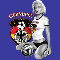 Germany Soccer Marilyn  T Shirt