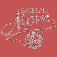 Baseball Mom - Rhinestones T Shirt