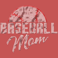 Baseball Mom - Sequins T Shirt