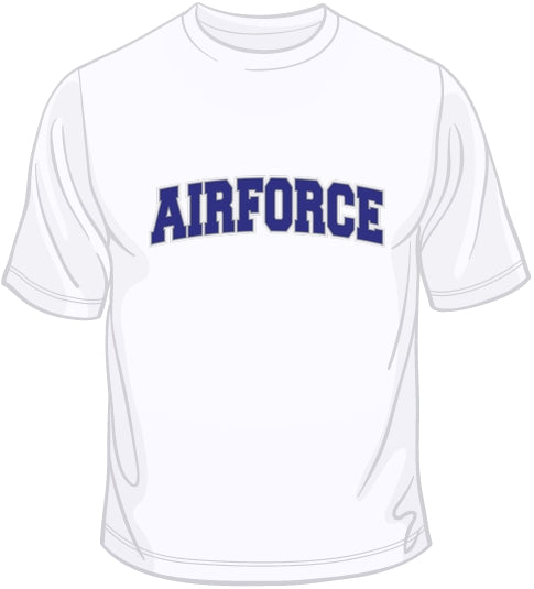 Air Force - Embroidered Patch T Shirt