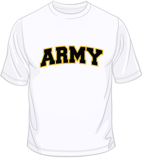 Army - Embroidered Patch T Shirt
