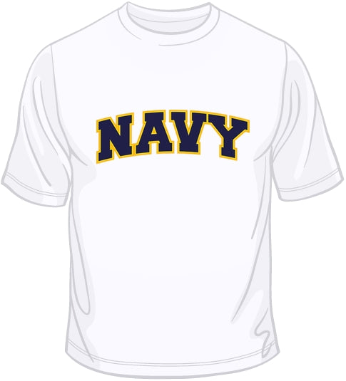 Navy - Embroidered  Patch T Shirt